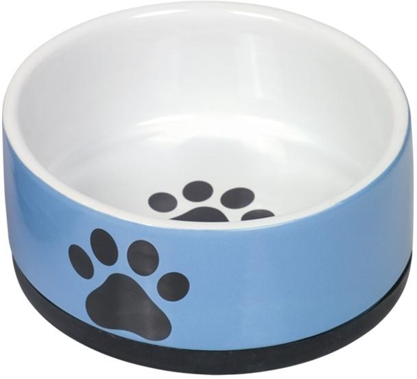 Nobby keramická miska PAW s protiskluzem modrobílá 14 x 6,5 cm/0,4 l