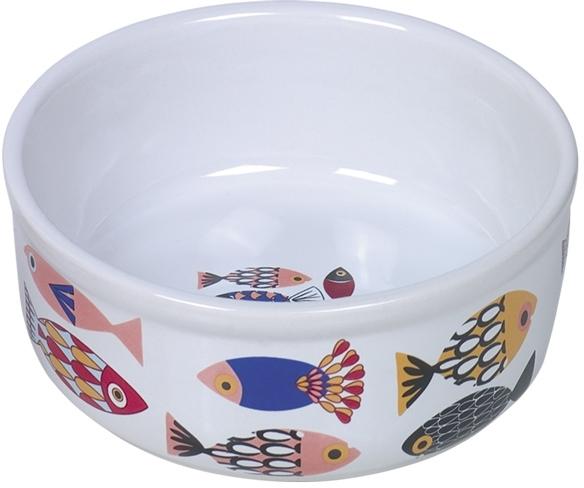 Nobby FISH keramická miska pro kočky bílá 13,5x4,5cm/0,25l