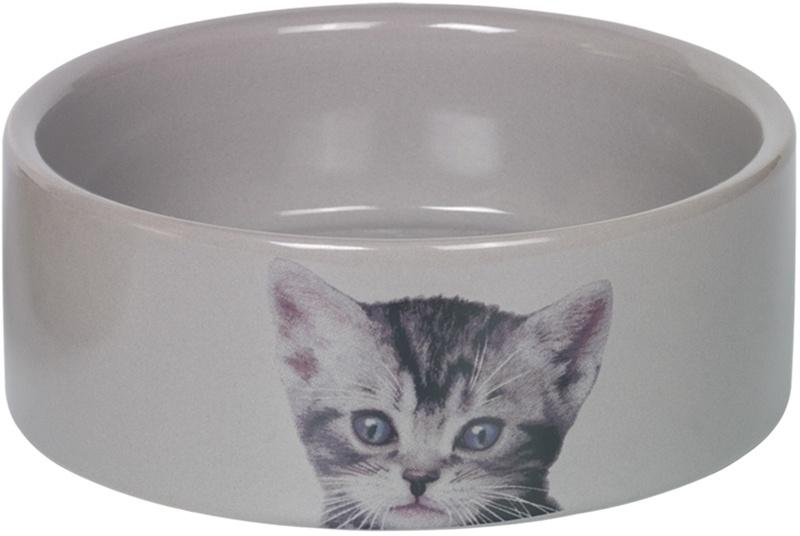 Nobby CUTE keramická miska pro kočky šedá 12x4,5cm/0,25l