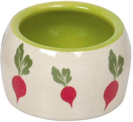 Nobby RADISH keramická miska pro hlodavce zeleno-bílá 8 x 4,5 cm