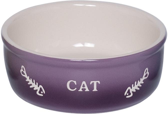 Nobby GRADIENT keramická miska pro kočky fialová 13,5x4,5cm/0,25l