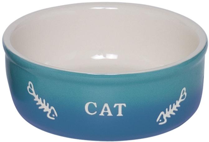 Nobby GRADIENT keramická miska pro kočky modrá 13,5x4,5cm/0,25l