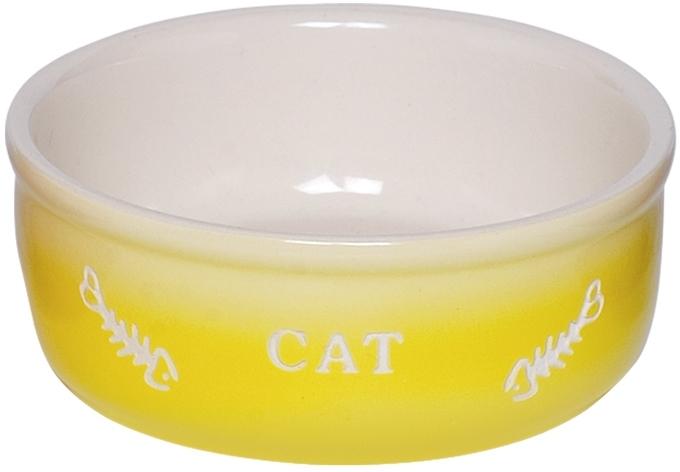 Nobby GRADIENT keramická miska pro kočky žlutá 13,5x4,5cm/0,25l