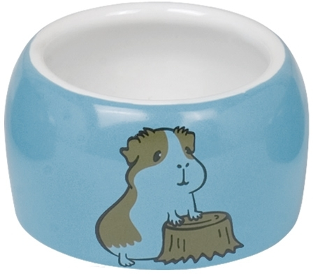 Nobby HAMSTER keramická miska pro hlodavce modro-bílá 8 x 4,5 cm