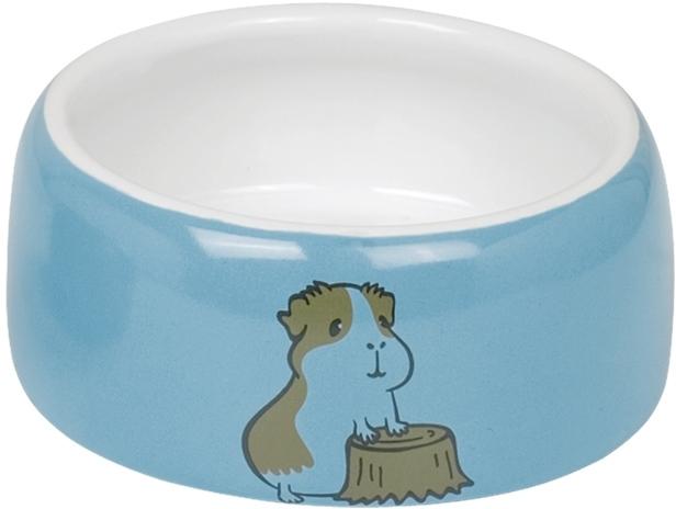 Nobby HAMSTER keramická miska pro hlodavce modro-bílá 12 x 5 cm