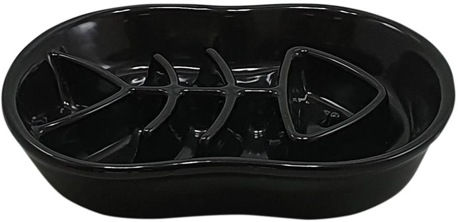 Nobby keramická protihltací miska FISH černá 500ml