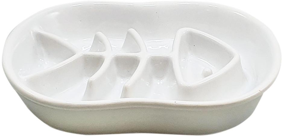 Nobby keramická protihltací miska FISH bílá 500ml