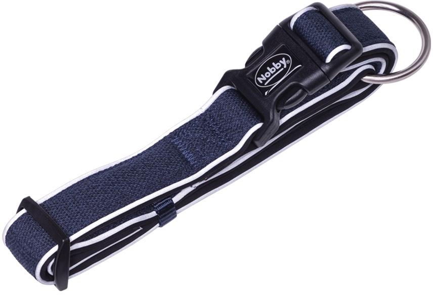 Nobby CAYO obojek nylon reflexní modrá M-L 40-55cm