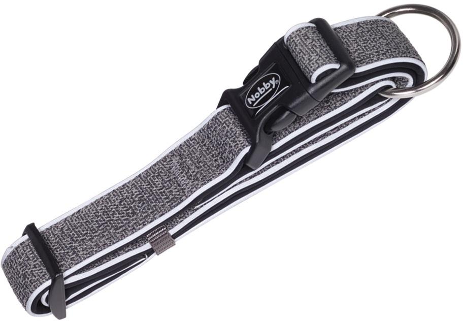 Nobby CAYO obojek nylon reflexní šedá M-L 40-55cm