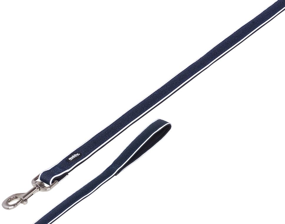 Nobby CAYO vodítko nylon-neopren modrá M-L 120cm