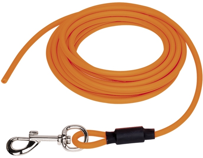 Nobby COVER kulaté stopovací vodítko bez smyčky pvc oranžová neon S-M 10m