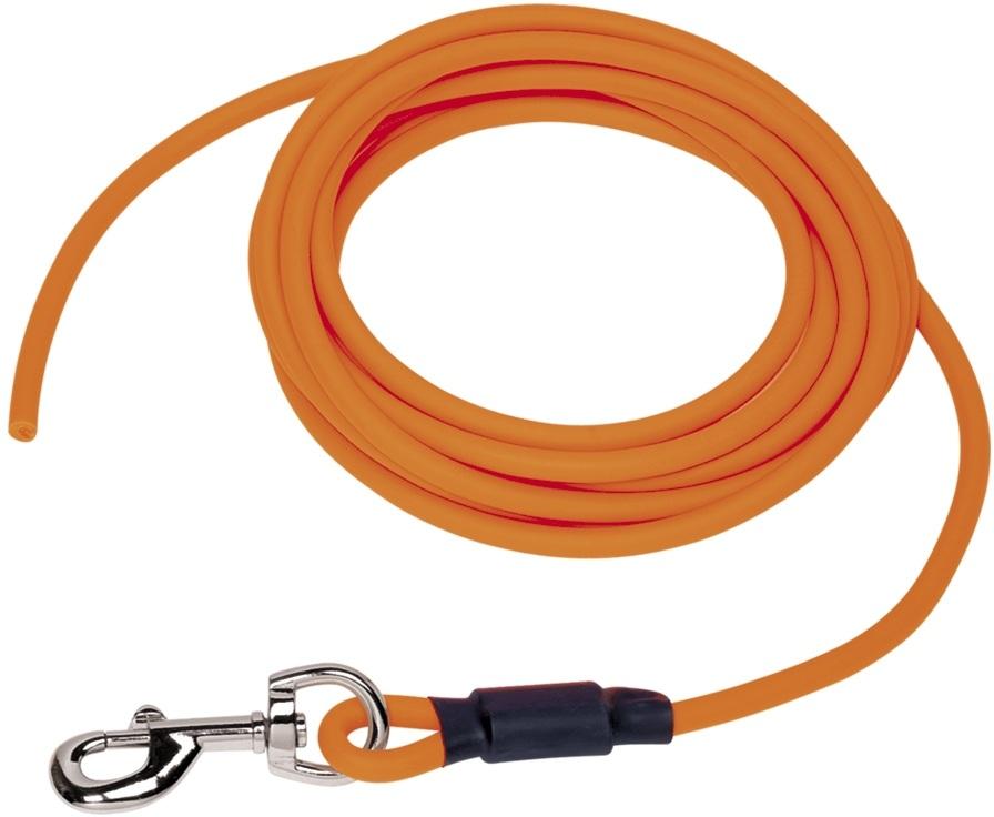 Nobby COVER kulaté stopovací vodítko bez smyčky pvc oranžová neon M-L 10m