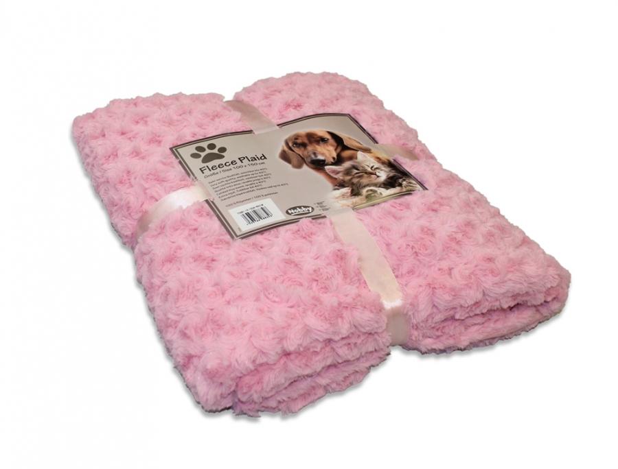 Nobby Super Soft fleecová měkká deka 100x150cm řůžová