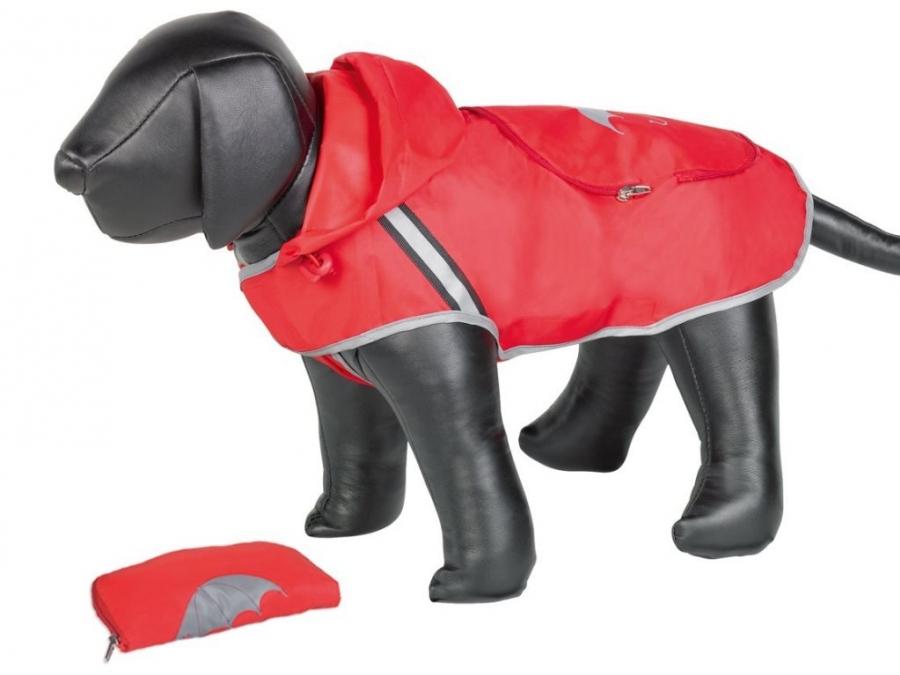 Nobby Rainy červená reflexní pláštěnka pro psa 26cm