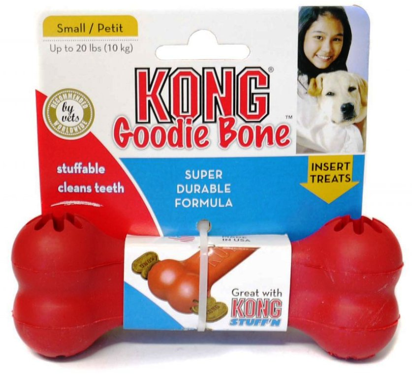 Kong Goodie Bone Small gumová kost 13,5cm
