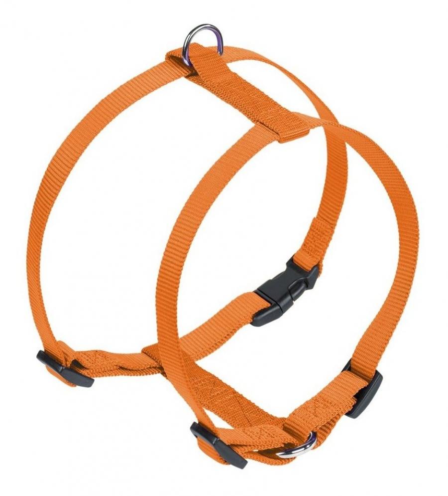 Nobby CLASSIC postroj nylon L-XL 70-90cm / 25mm oranžová