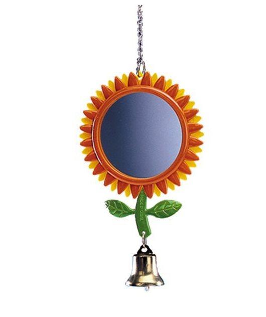 Nobby závěsné zrcátko květina pro papoušky 17cm