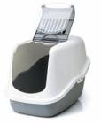 Savic NESTOR toaleta pro kočky šedá 56x39x38cm
