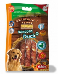 Nobby StarSnack Barbecue Wrapped Duck Medium tyčinky 13cm / 140g