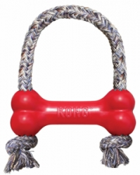 Kong Goodie Bone Medium gumová kost s lanem 14cm