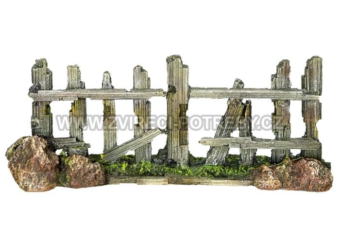Nobby akvarijní dekorace plot 18 x 5 x 7 cm
