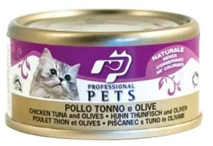Professional Pets Naturale Cat konzerva kuře, tuňák a olivy 70g