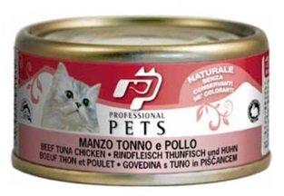 Professional Pets Naturale Cat konzerva hovězí, tuňák a kuře 70g