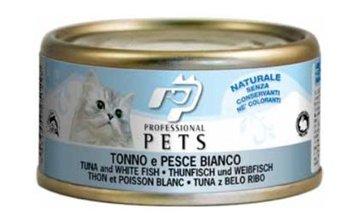 Professional Pets Naturale Cat konzerva tuňák a bílé ryba 70g