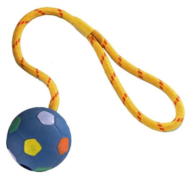 Nobby aportovací míč s lanem 6,5 cm