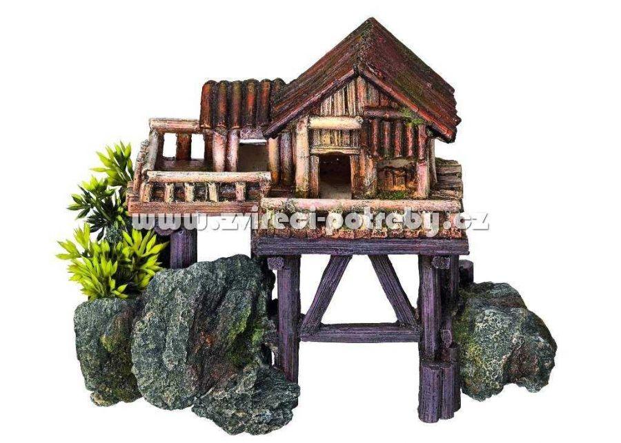 Nobby akvarijní dekorace dům 23 x 12,3 x 17 cm