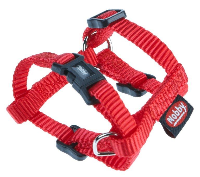 Nobby CLASSIC postroj nylon L-XL 70-90cm / 25mm červená