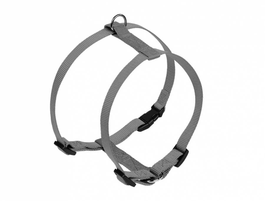 Nobby CLASSIC postroj nylon XXS 14-20cm / 10mm šedá