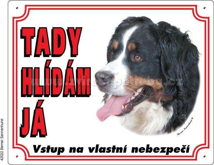 Výstražná plastová tabulka Bérnský salašnický pes
