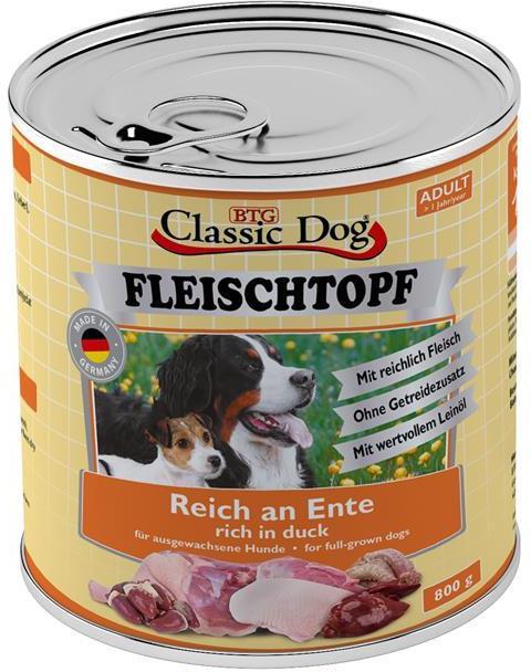 Classic Dog Fleischtopf Adult kachna 800g