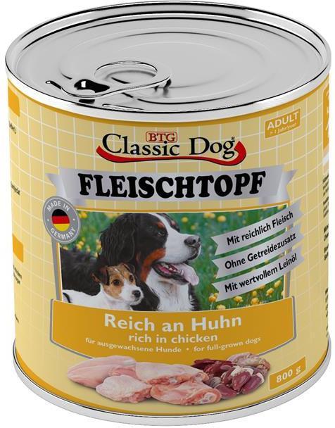 Classic Dog Fleischtopf Adult kuře 800g
