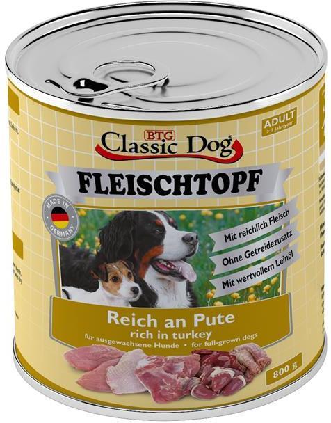 Classic Dog Fleischtopf Adult krůtí 800g