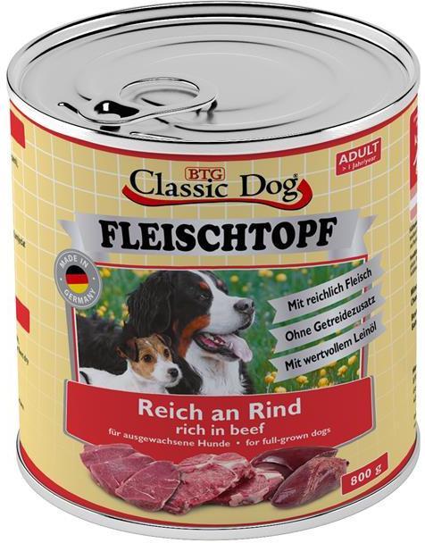 Classic Dog Fleischtopf Adult hovězí 800g