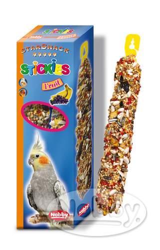Nobby StarSnack tyčinky ovocné pro velké papoušky 2 x 90g