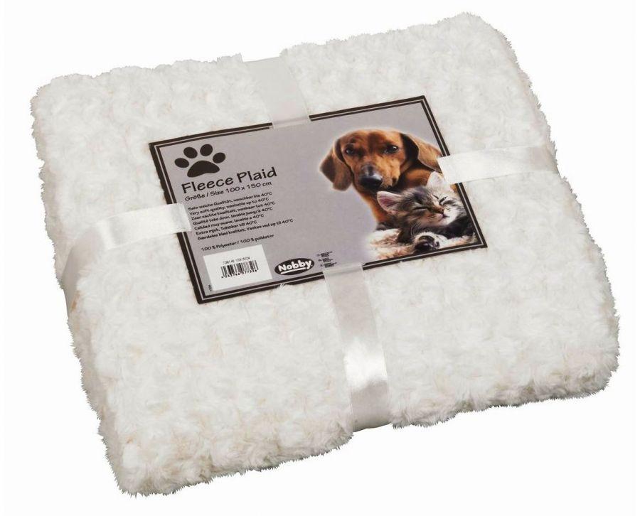 Nobby Super Soft fleecová měkká deka 100x150cm smetanová