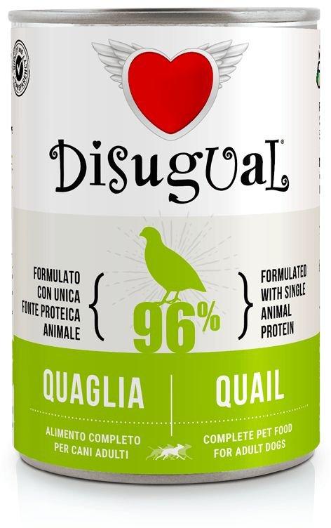 Disugual Dog Mono Quail konzerva 400g