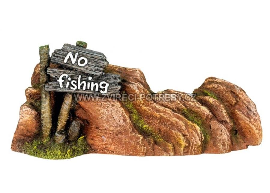 Nobby akvarijní dekorace No Fishing 23 x 5 x 10 cm