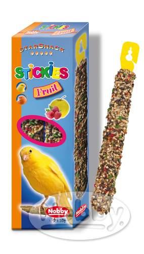 Nobby StarSnack tyčinky ovocné pro kanárky 2 x 30g