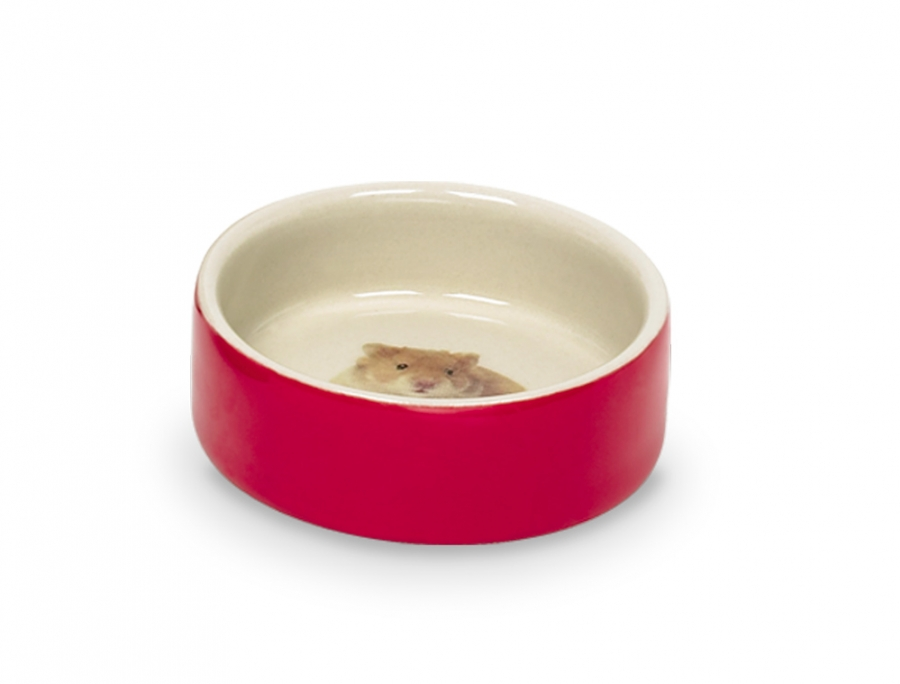 Nobby Hamster keramická miska hlodavec 7,5 x 2,5cm červená