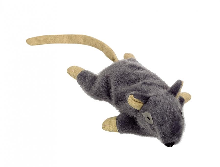 Nobby plyšová myška s šantou kočičí 14,5 cm šedá