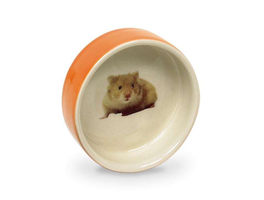 Nobby Hamster keramická miska hlodavec 7,5 x 2,5cm oranžová