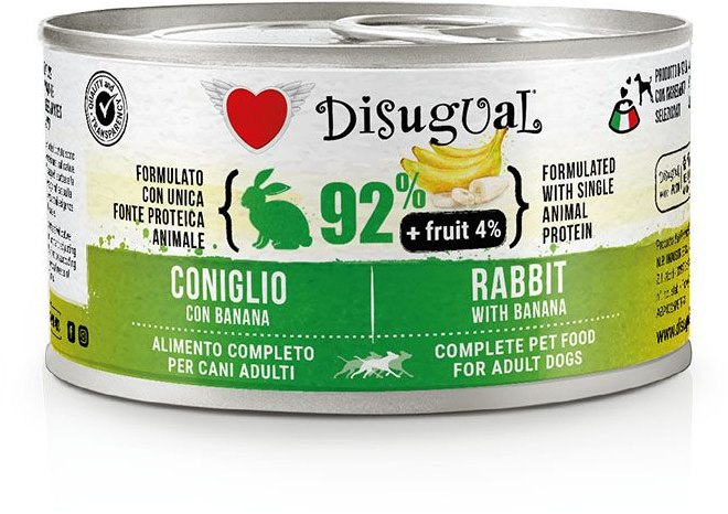 Disugual Fruit Dog Rabbit with Banana konzerva 150g