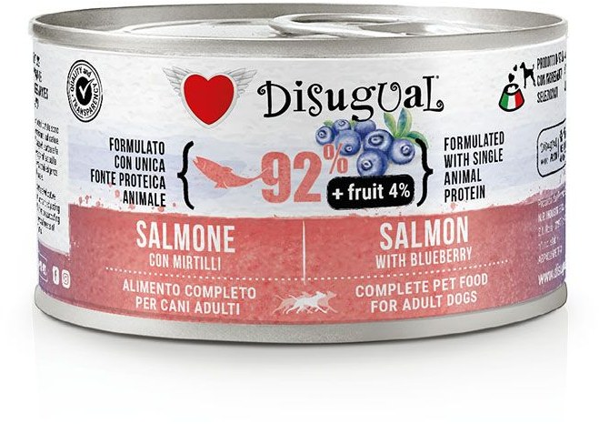 Disugual Fruit Dog Salmon with Blueberry konzerva 150g