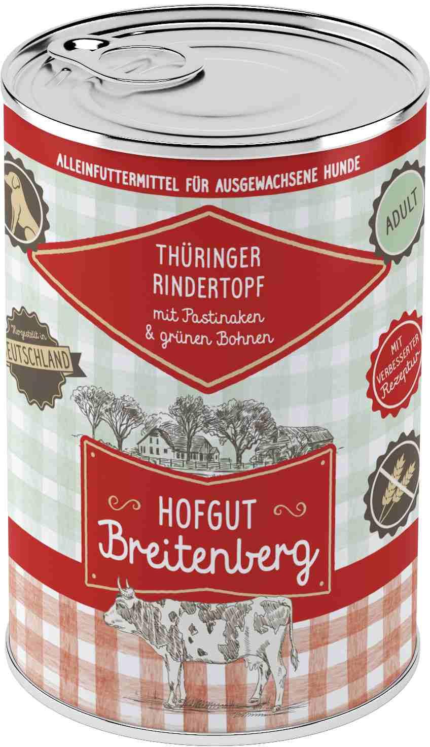 Hofgut Breitenberg Dog Thüringer Rindertopf 400g