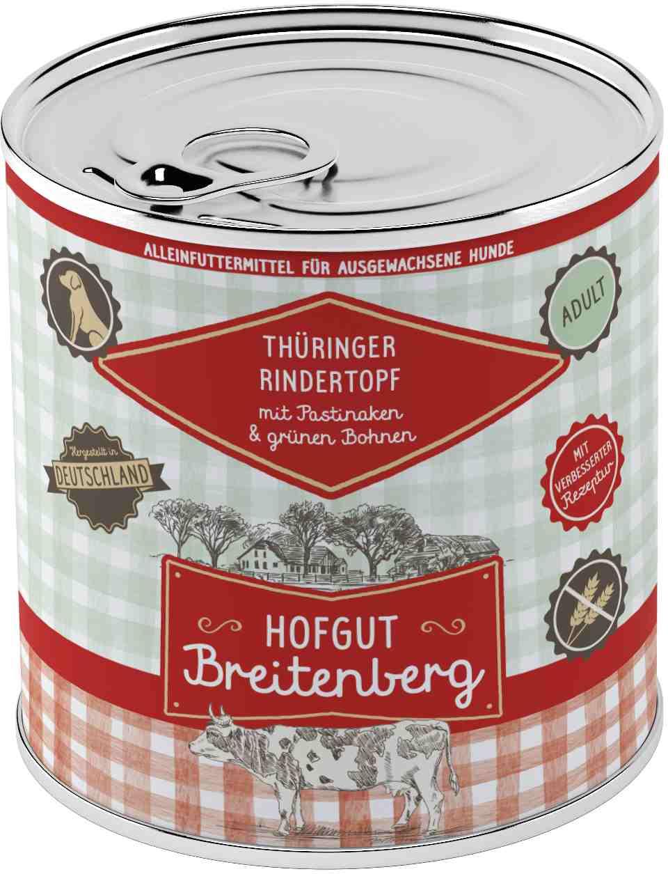 Hofgut Breitenberg Dog Thüringer Rindertopf 800g
