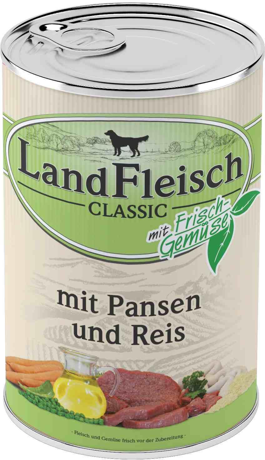 Landfleisch Dog Classic Pansen, Reis 400g